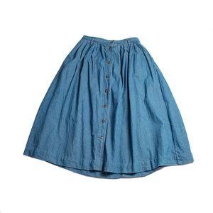 Levi's dockers size 14 long denim skirt button up